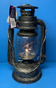 Vintage Style Hanging Lantern Battery Operated Rustic Lot Of 2 NIB