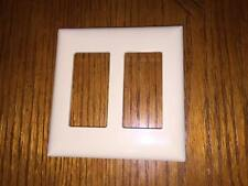 Mobile Home Self-Contained Double Snap-On Rocker Switch Plate... IVORY