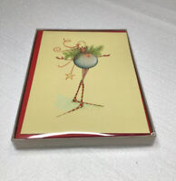 """KITTY/'S NOTE CARDS Set of 10 Envelopes /""""Christmas Across the Miles/"""""""