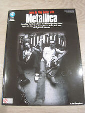 Metallica Learn to Play Guitar with Sheet Music Song Book Guitar Tab Instruction