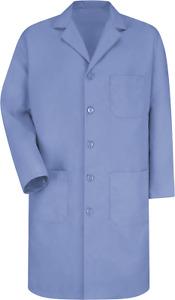 Lab/Shop Coat Red Kap 5 Button Medium Blue KP14MP, Cotton Blend, Unisex