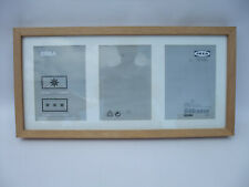 IKEA RIBBA BLOND WOOD Wall Hung Photo Picture Frames 3 aperture