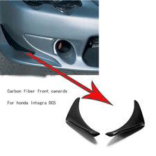 For 02-06 Honda Integra DC5 Acura RSX Carbon Fiber Front Bumper Canard Kits 2pcs