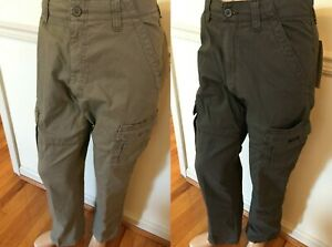 NWT MEN'S Wrangler Cargo Relaxed Fit Rip-Stop ABW OD BY TECH 7 Pocket Pants Flex