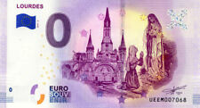 65 LOURDES Vierge et Bernadette, 2019, Billet 0 € Souvenir