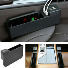 Schwarzer Autoabstand Aufbewahrungsbox Organizer Wireless USB-Telefon-Ladegerät