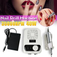 35000RPM Electric Nail Drill Machine File Bits Pedicure Manicure Gel Nails