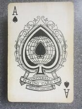 vintage UNIVERSAL playing cards - red geometric backs - c1930s different Ace