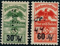 Stamp Germany Revenue WWII Fascism War Era Import Duty Tax Set Used