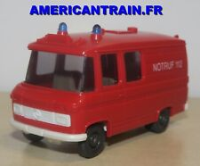 Fourgon MB L 406 Notruf 112 ambulance Pompier / Feuerwehr RTW HO 1/87 Wiking