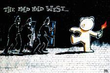 Banksy Mild West 24x36 poster Graffiti Street Art Exit Through The Gift Shop New