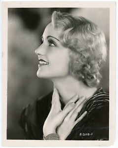 Rare Carole Lombard Original 1930 Glamour Photograph First Paramount Photo Shoot