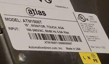 Atlas Atm1500t 15 Touchscreen Automation Direct Monitor Xga 100 240vac Usb