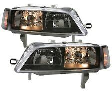 94-97 Accord JDM SIR BLACK Head Lights PAIR DEPO 95 w/ Clear Corner Side Lamps