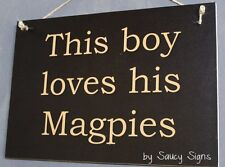 This Boy Loves Collingwood Footy Football Sign
