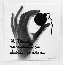 Lucia Marcucci  Il tema romantico della poesia 1974 Litografia firmata P. Visiva