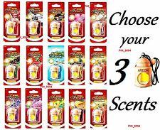 3 x Quality Parfume Air Freshener Car Home AREON Fresco CHOOSE YOUR 3 SCENTS