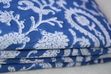 Indian Hand Made Block Print Fabric 100% Cotton Crafting Fabric 1 Yard