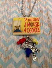 If You Give Mouse a Cookie Book Jewelry Necklace HANDMADE Librarian Teacher Gift