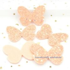 10Pcs Pads Butterfly Appliques Patches for Stickers Decor, DIY Hair Accessories