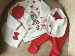 Christmas Baby Girls outfit set 0-3 months 5 piece set romany baby gift