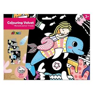 Avenir Riesenposter zum ausmahlen -Meerjungfrau- + 25 Samt Sticker