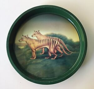 Collectable Round Metal Tasmanian Tiger Beer Tray- Beer- Advertising -