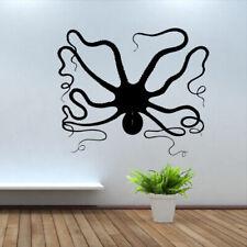 Wall Decal Animal Ocean Octopus Shellfish Sea Fish Ship vinyl M100