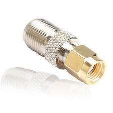 SMA Female Plug to F Type Male Jack Adapter Straight Connector Converter Brass