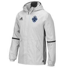 Vancouver Whitecaps FC MLS Men's Team Crest Clear Onix Grey Training Rain Jacket