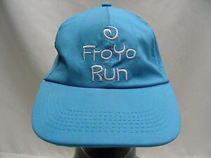 FROYO RUN - BLUE TEAL - LIGHTWEIGHT POLYESTER ADJUSTABLE BALL CAP HAT!
