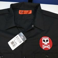 NEW NWT DICKIES ALIEN PISTON SKULL WRENCH RACING MECHANIC WORK SHIRT Sz XXL
