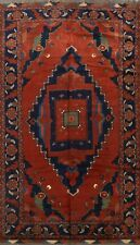 Excellent Vintage Balouch Afghan Oriental Area Rug Rust Hand-Knotted Carpet 9x12