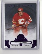 """THEOREN """"THEO"""" FLEURY 2017-18 UD ARTIFACTS PURPLE PARALLEL SP/20 #149 FLAMES"""
