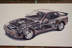 Porsche  944 Turbo  Pvc large WORK SHOP BANNER garage car show banner