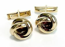 Knot Gold Plate on Brass Cufflinks - Knot with smooth finish
