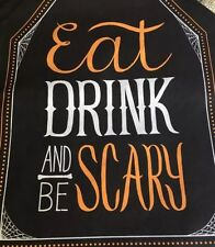 Happy Halloween(1) Eat Drink & Be Scary Chair Party Slip Cover.
