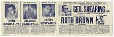 GENE KRUPA Charlie Barnet RUTH BROWN Charlie Brown 1949 APOLLO Theatre Handbill