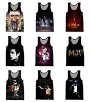 Newest Men/Women's 3D Print King of Pop Michael Jackson Vest Casual Tank Top