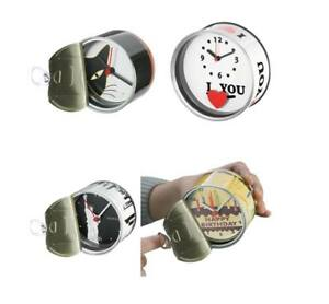 4x Quartz Watch IN The Box - Tin - Ø Approx. 8,5 +15 CM Unused New Product /282