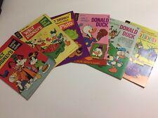 Vintage Lot of 6 Disney Comics Donald Pluto Goofy Comic Books 1970s