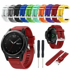 Replacement Silicone Wristband Watch Strap for Garmin Fenix 5 Watchband Band