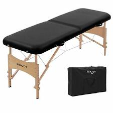 Uenjoy Massage Bed 72'' Professional Folding Table 2 Fold, Basic & Portable