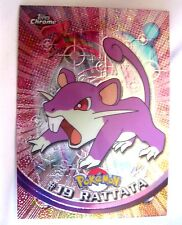Rattata 2000 Topps Chrome Pokemon Rattata Chrome Card#19-Pokemon Chrome Card