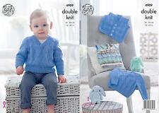 King Cole 4909 Knitting Pattern Tank Top Sweater & Waistcoat in Cherished DK