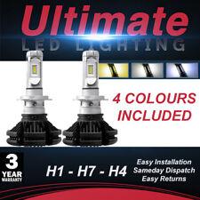 BCS-X3 FANLESS H7 H4 H1 WHITE 6000K LED BULBS DIPPED OR MAIN BEAM CANBUS SAFE UK