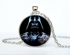 Star Wars Photo Cabochon Glass Tibet Silver Chain Pendant Necklace AAA51