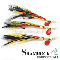 Shamrock Irish Tackle Rainbow Warrior 3 Hook Sea Rigs - Sea Fishing Sabiki Rigs