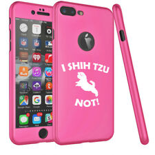 For Apple iPhone 360° Thin Slim Case Cover Screen Protector I Shih Tzu Not Funny