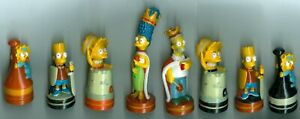 The Simpsons Chess Set 2001 Replacement Pieces Homer, Marge, Bart, Lisa, Maggie